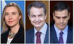 El trío Mogherini Zapatero Sánchez jamás acabará con el dictador Nicolás y con el bolivarianismo