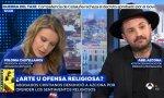 Polonia Castellanos (Abogados Cristianos) cara a cara con el 'artista' Abel Azcona