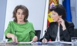 Las ministras Teresa Ribera e Isabel Celaá en la rueda de prensa posterior al Consejo de Ministros más verde de la legislatura
