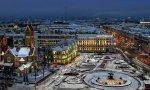 Vista nocturna de Minsk