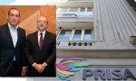 Manuel Mirat, CEO, y Javier Monzón, presidente de PRISA, compañía que subsiste gracias a Santander, Telefónica y CaixaBank