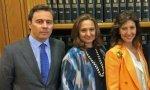 Dimas Gimeno y Cristina y Marta Guil
