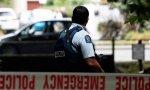 Un policía en el lugar del atentado en Nueva Zelanda