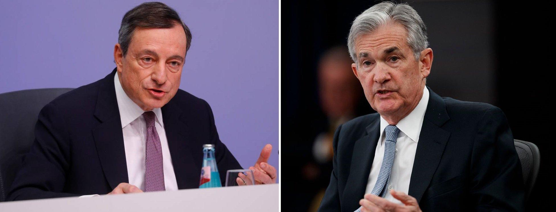 Mario Draghi y Jerome Powell se han cargado el negocio bancario y, de paso, nos abocan a una crisis financiera permanente