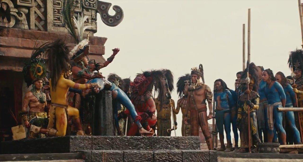 Escena de sacrificios humanos en 'Apocalypto'