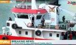 Barco secuestrado por migrantes en Malta