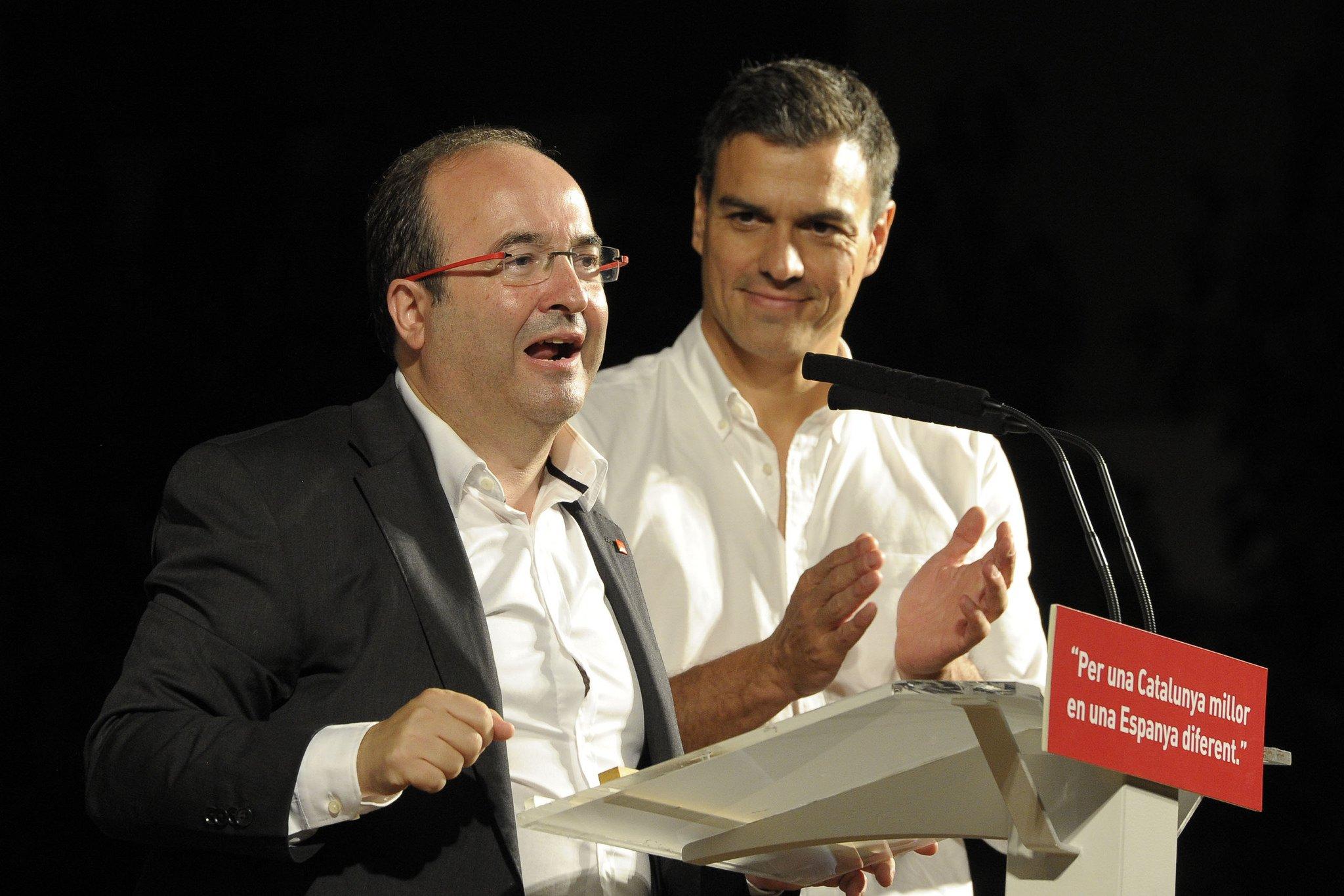 Miquel Iceta y Pedro Sánchez parecen no coincidir en cuanto a la unidad de España