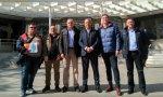 Los representantes de las asociaciones profesionales ante los Juzgados de Castilla tras presentar la denuncia
