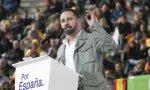Santiago Abascal, líder de Vox, en un mitin en Leganés