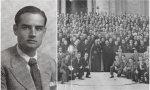 Francisco Castelló y una imagen de una peregrinación a Roma de la Federación de Jóvenes Cristianos de Cataluña