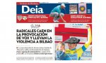 Portada del Diario Deia domingo 14 de abril