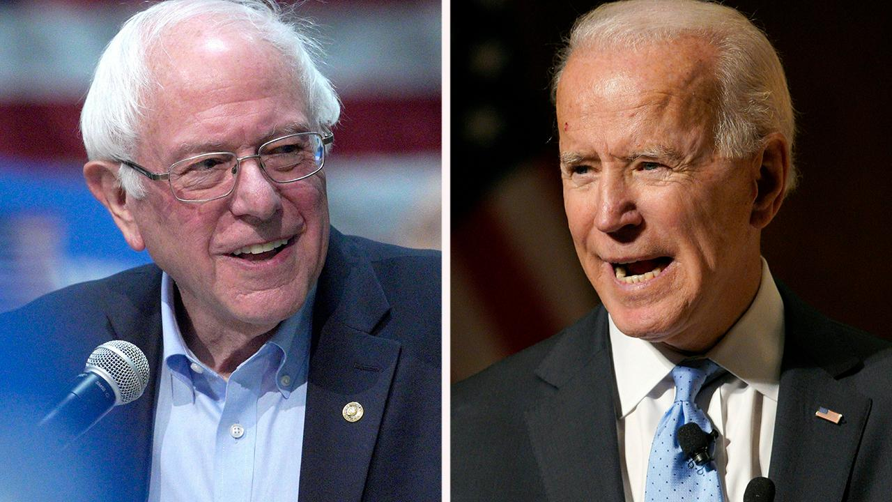 Bernie Sanders (izda) y Joe Biden (dcha) son, según Trump, sus rivales para 2020