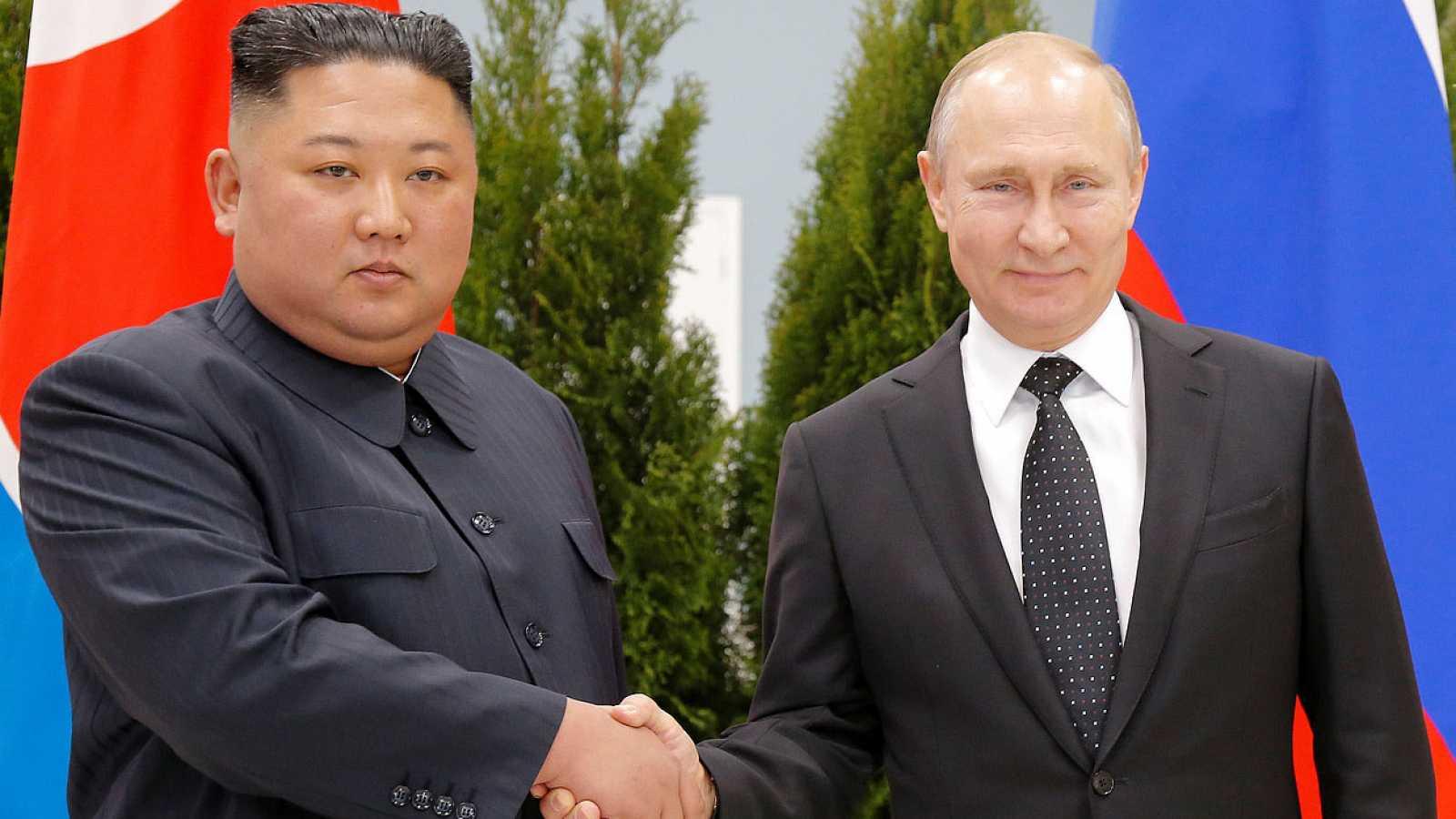 Putin y Kim Yong Un