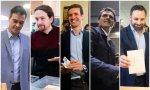 Los líderes de los partidos votando en las generales de 2019
