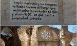 Iglesia destruida en el paraje del Monasterio de Piedra, en Zaragoza
