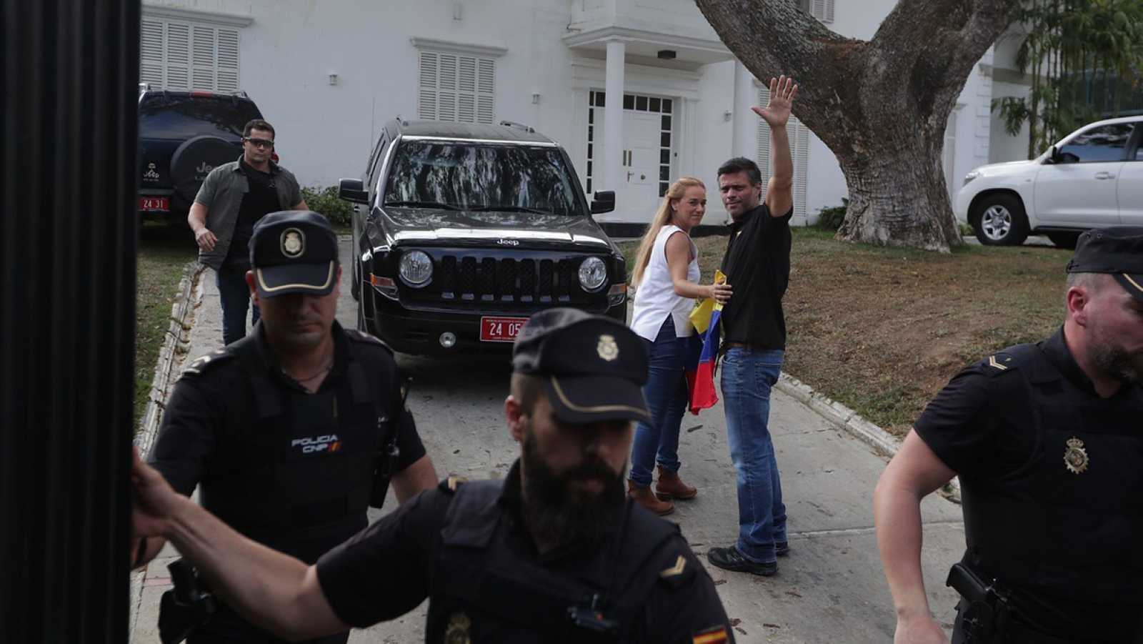 Leopoldo López en la embajada de España en Venezuela