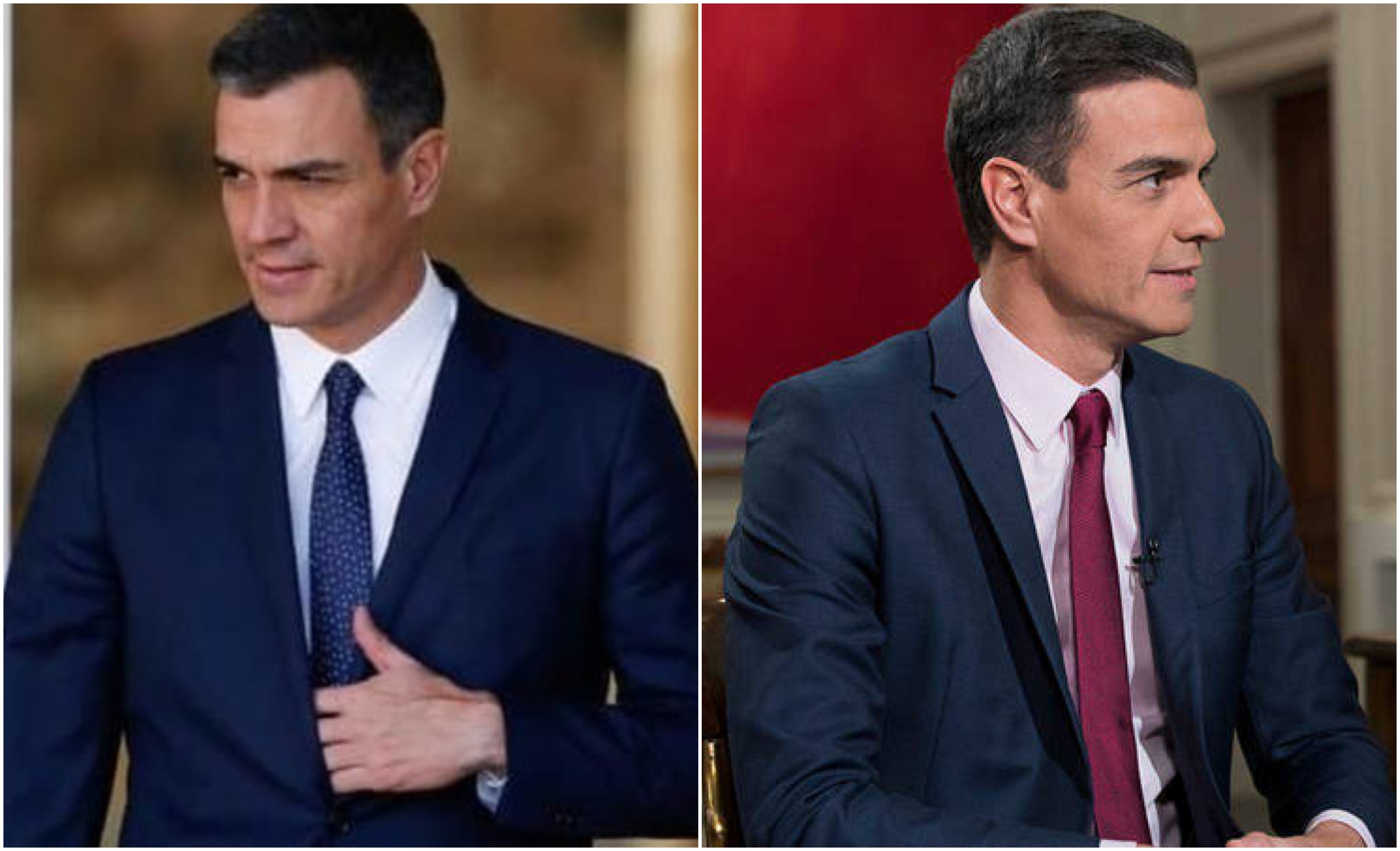 Las dos caras de Pedro Sánchez