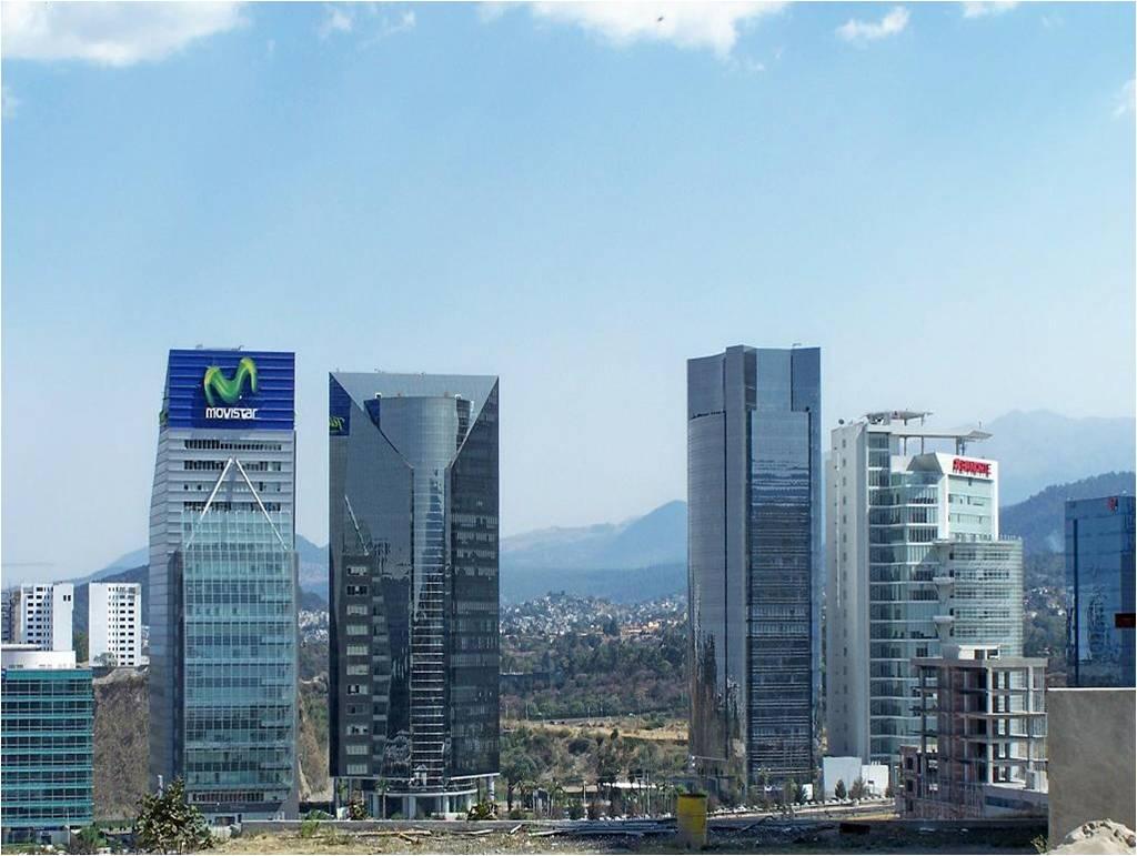 La Torre TEMM, de Telefónica Movistar, en Santa Fe, el distrito financiero más importante de México