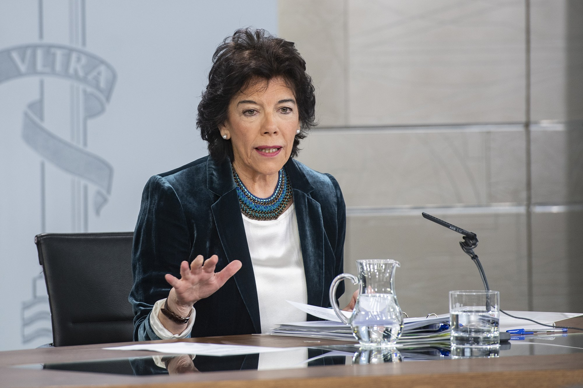 La ministra de Educación y Formación Profesional y portavoz del Gobierno en funciones, Isabel Celaá