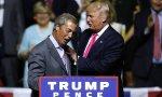 Farage y Trump en el mitin que ofreció el británico en Misisipi durante la última campaña electoral de los EEUU