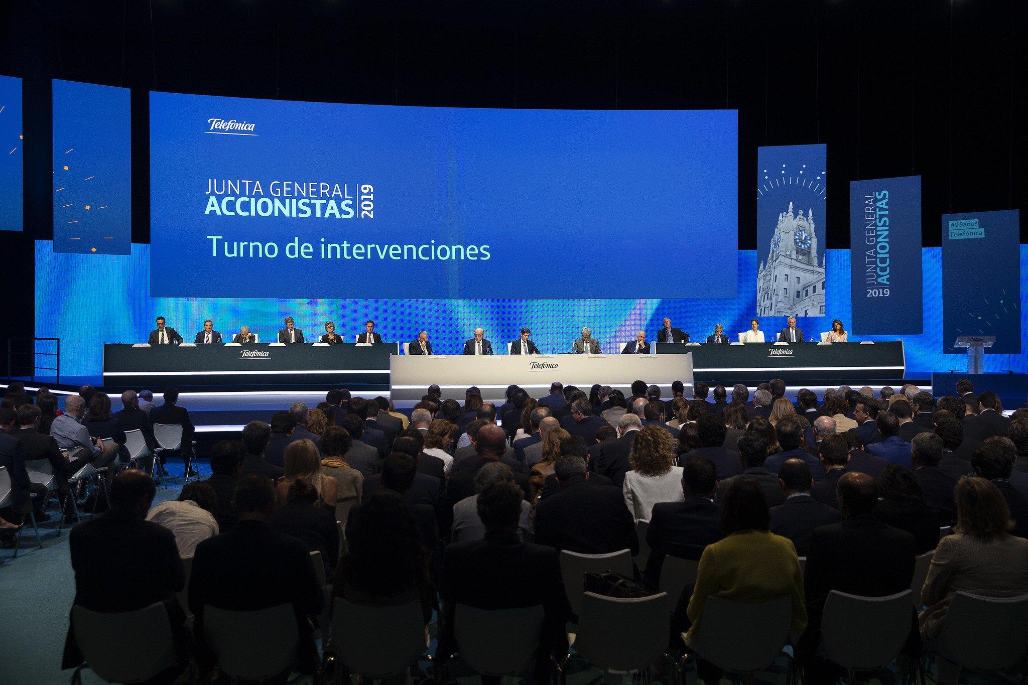 La Junta de Telefónica de 2019 ha sido la más tranquila en muchos años