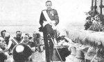 Alfonso XIII durante el discurso de inauguración del monumento al Sagrado Corazón