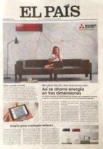 La crisis de la prensa de papel: El País 'vende' su portada a Mitsubishi