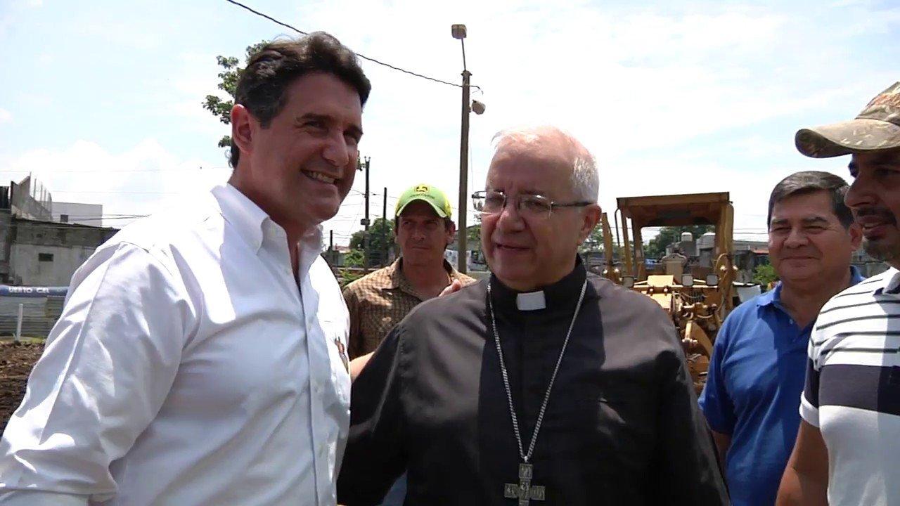 Monseñor Víctor Hugo Palma en Escuintla
