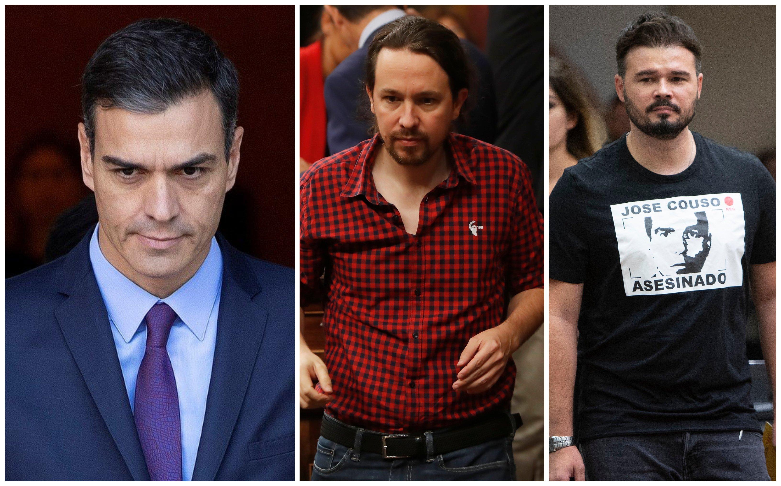 La mayoría que investirá a Pedro Sánchez PSOE, Podemos y la abstención de ERC