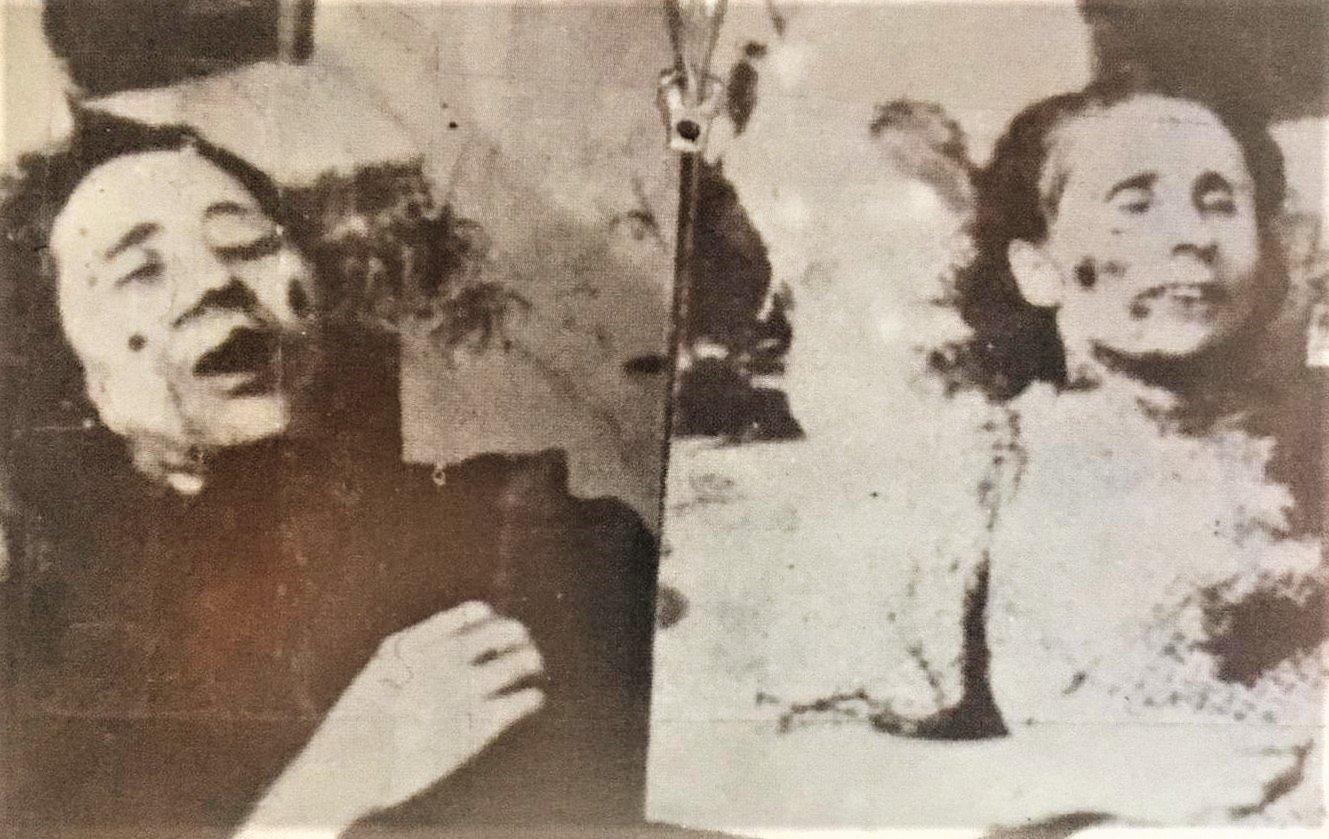 Fotografías hechas por el sepulturero de Vicálvaro de la madre Inés (izquierda) y de sor Mª del Carmen (derecha)