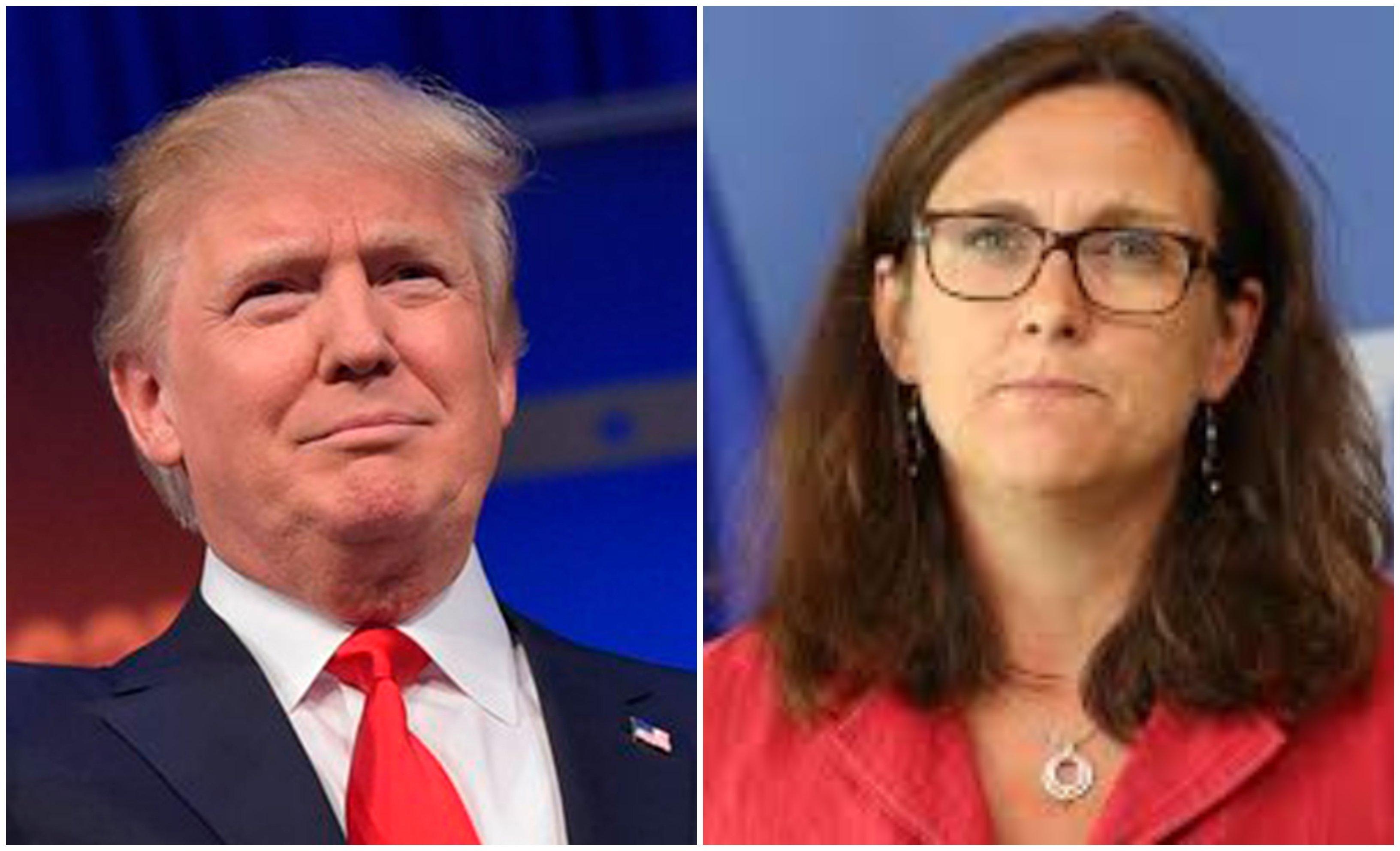 Donald Trump y Cecilia Malmstrom