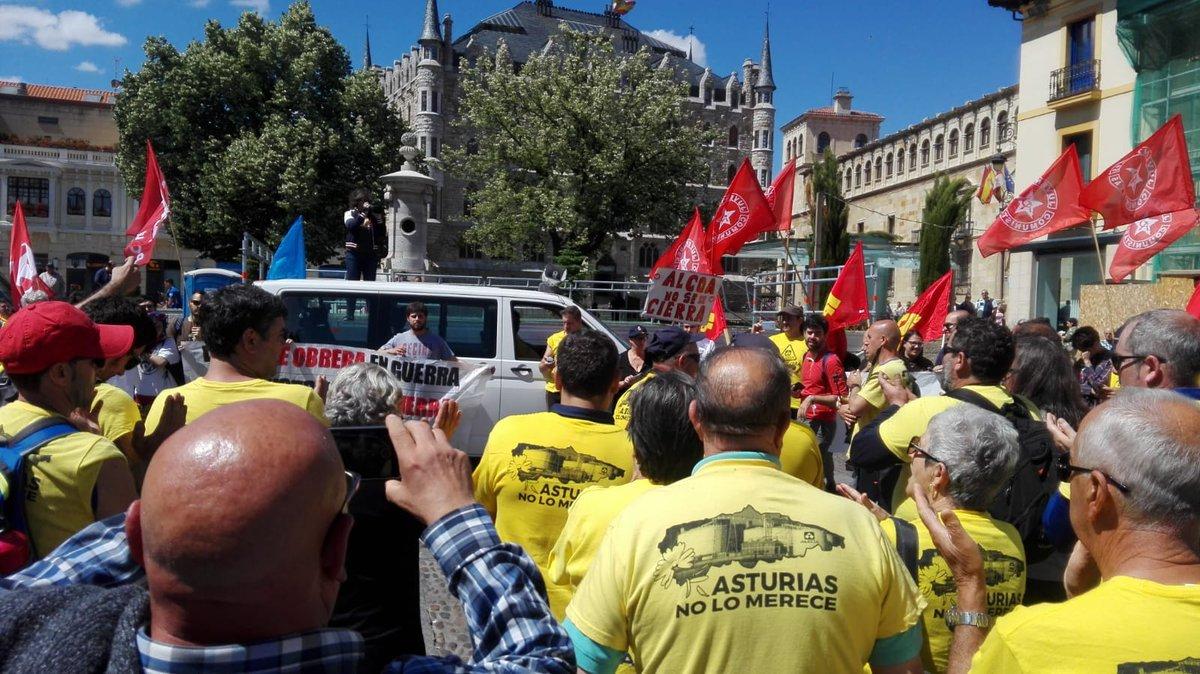 'La marcha del aluminio' a Madrid sigue su curso por tierras vallisoletanas, pese al preacuerdo anunciado entre Alcoa y Parter