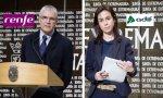 El presidente de Renfe, Isaías Táboas, ante su homóloga de Adif, Isabel Pardo de Vera, no ha perdido la ocasión de hablar de los cánones