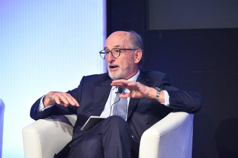 Antonio Brufau, en la charla organizada por el Real Instituto Elcano sobre transición energética