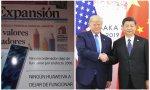 Portada de 'Expansión' y Trump con Xi Jinping