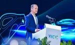 Herbert Diess, CEO del grupo Volkswagen, en el primer Congreso Mundial de Vehículos de Nueva Energía celebrado en Boao (China)