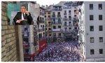 El alcalde de Pamplona, Enrique Maya, ha sido abucheado por independentistas en los San Fermines