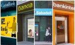 Caixabank, Bankia, Sabadell y Bankinter pierden 6.200 millones de euros de valor en bolsa desde enero