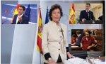 Celaá, Rivera, Sánchez e Iglesias