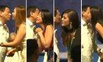 Duterte invitó a cuatro mujeres a besarlo durante un acto