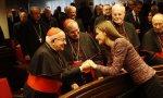 Monseñor Estepa y doña Letizia