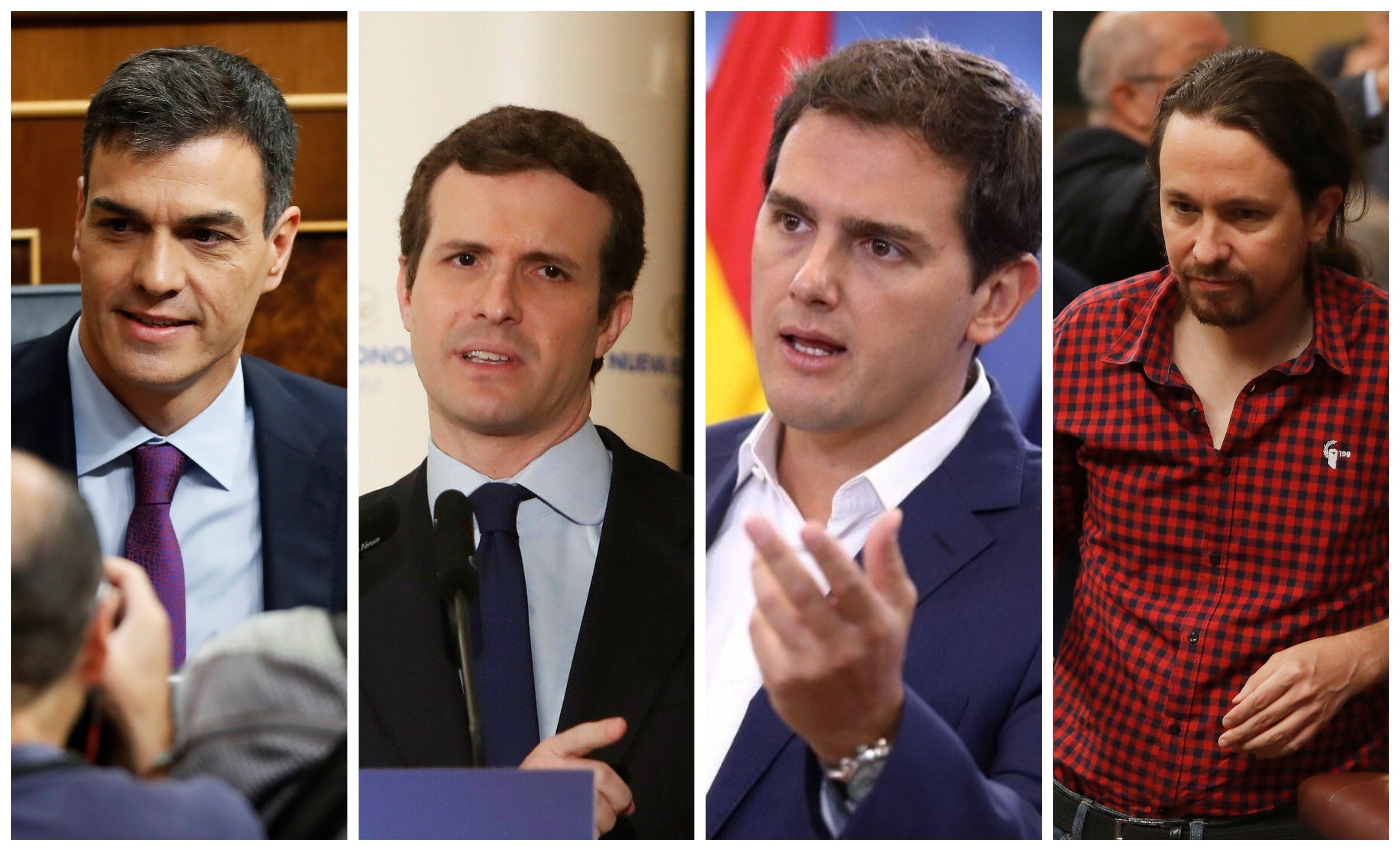 Sánchez, Casado, Rivera e Iglesias