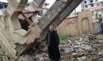 Una iglesia de Irak quemada por Daesh