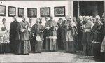 De izquerda a derecha, los obispos Manuel Borràs, Fèlix Bilbao de Tortosa, Vidal y Barraquer de Tarragona, Valentí Comelles  de Solsona y Josep Cartañà de Girona.