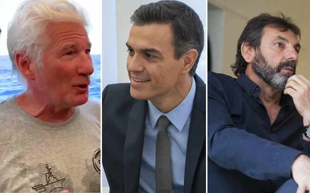 Sánchez pasa del Open Arms... pero sí tiene tiempo para charlar con un actor, más que con Óscar Camps