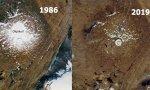 Ok, en el pasado, un gran glaciar