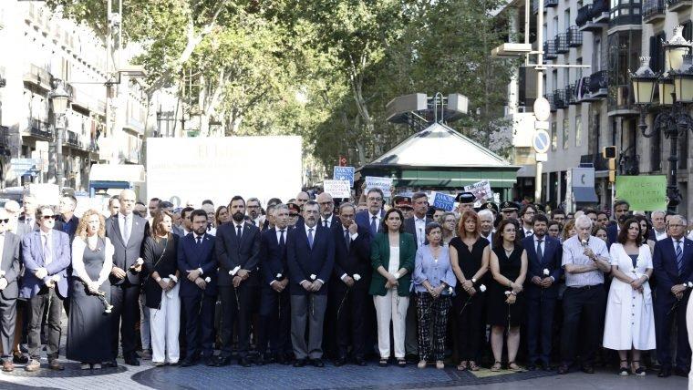 Acto del aniversario de los atentados en Barcelona