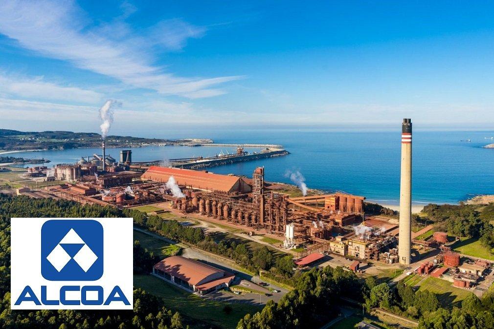 Plantas de Alcoa en el complejo industrial de San Ciprián, perteneciente al municipio de Cervo (Lugo)