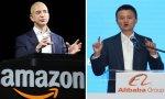 Jeff Bezos y Jack Ma, los dos hombres que están detrás de Amazon y Alibaba respectivamente