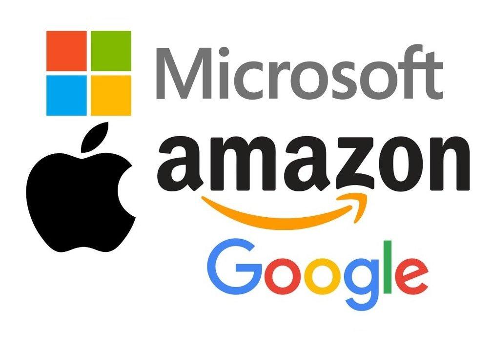 Microsoft, Apple, Amazon y Google son gigantes tecnológicos y las compañías más valiosas
